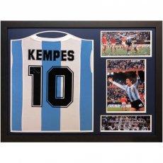 Argentina Kempes Signed Shirt (Framed)