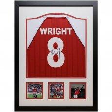 Arsenal FC Wright Signed Shirt (Framed)