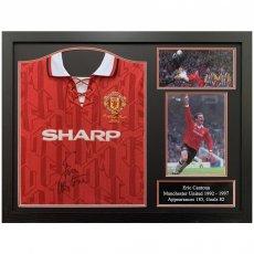 Manchester United FC Cantona Signed Shirt (Framed)