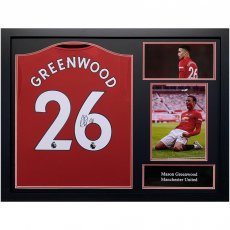 Manchester United FC Greenwood Signed Shirt (Framed)