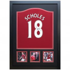 Manchester United FC Scholes Signed Shirt (Framed)