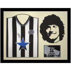Newcastle United FC Keegan Signed Shirt Silhouette
