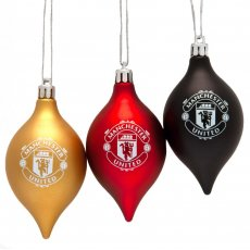 Manchester United FC 3pk Vintage Bauble