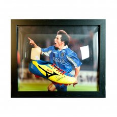Chelsea F.C. Zola Signed Boot (Framed)