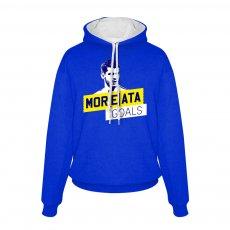 Chelsea Mor(e)ata footer with hood, blue