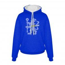 Chelsea Pride footer with hood, blue