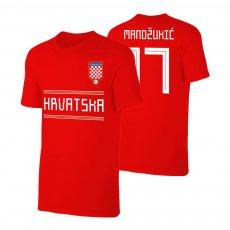 Croatia WC2018 Qualifiers t-shirt MANDZUKIC, red