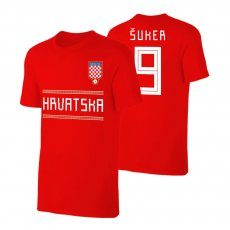 Croatia WC2018 Qualifiers t-shirt SUKER, red