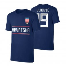 Croatia WC2018 Qualifiers t-shirt VLAOVIC, dark blue