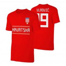 Croatia WC2018 Qualifiers t-shirt VLAOVIC, red