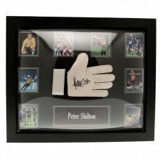 England F.A. Shilton Signed Glove (Framed)