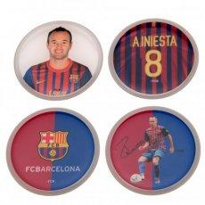 F.C. Barcelona 3D Stickers 4pk Iniesta