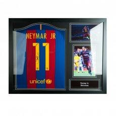 F.C. Barcelona Neymar Signed Shirt (Framed)