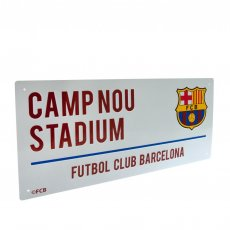 F.C. Barcelona Street Sign