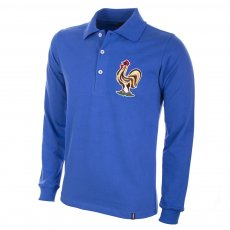 France 1950s Long Sleeve Retro Football Shirt