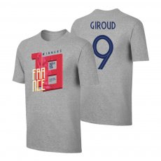France WC2018 Winners t-shirt GIROUD, grey