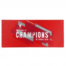 Liverpool F.C. Champions Of Europe Street Sign