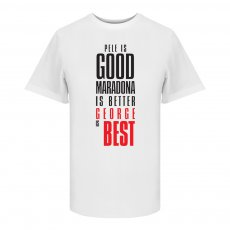 George Best Good,Better,BEST t-shirt, white