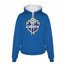 Greece Flame footer with hood, royal blue