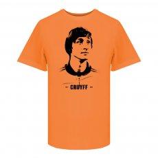 Johan Cruyff Portrait t-shirt, orange