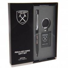 West Ham United F.C. Pen & Keyring Set