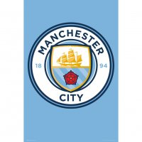 Manchester City F.C. Poster Crest 3 (61 x 91cm)