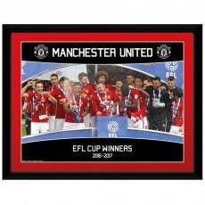 Manchester United F.C. Picture EFL Cup Winners 16 x 12
