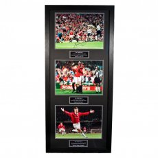 Manchester United F.C. Treble Winners Signed Framed Prints