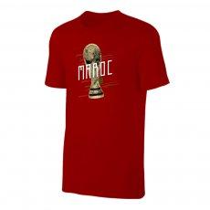 Morocco WC2018 Trophy t-shirt, crimson