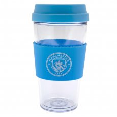 Manchester City FC Clear Grip Travel Mug