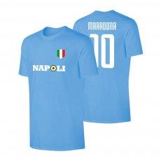 Napoli Target t-shirt MARADONA, light blue