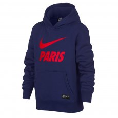 Paris St Germain 2018/19 Nike Crest junior footer with hood, blue