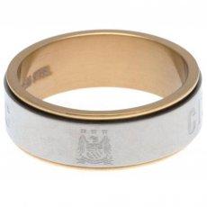 Manchester City F.C. Bi Colour Spinner Ring Large EC