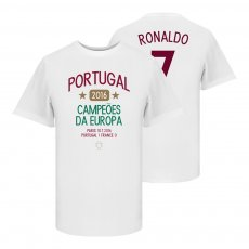 Portugal 2016 European Champions Ronaldo T-shirt, white
