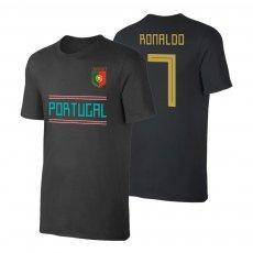 Portugal WC2018 Qualifiers t-shirt RONALDO, black