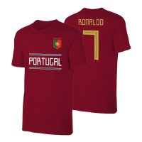 Portugal WC2018 'Qualifiers' t-shirt RONALDO, crimson