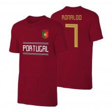 Portugal WC2018 Qualifiers t-shirt RONALDO, crimson