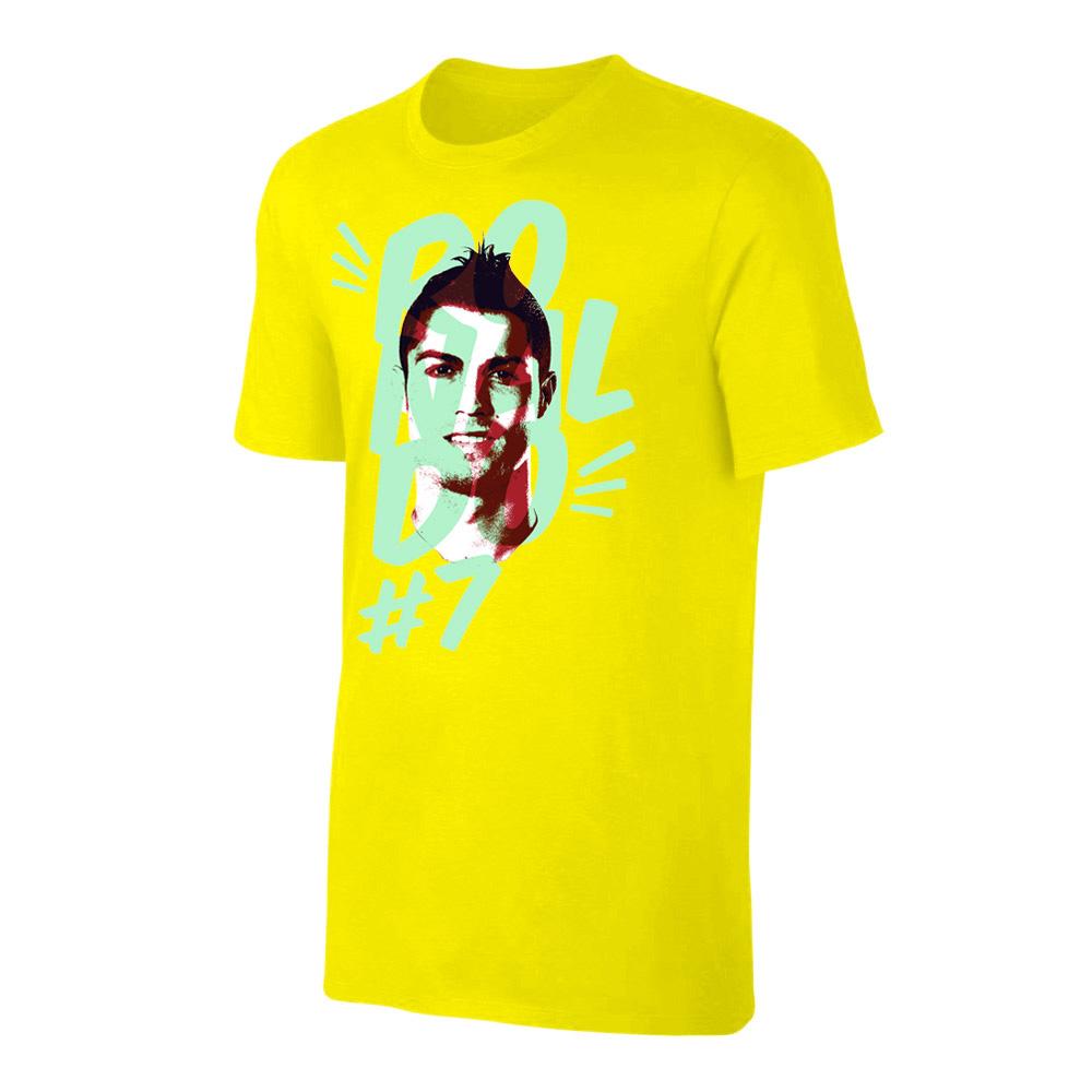 Ronaldo Portrait t-shirt, yellow