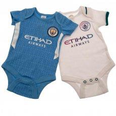 Manchester City FC 2 Pack Bodysuit 12/18 mths SQ