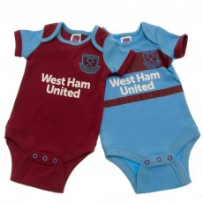 West Ham United FC 2 Pack Bodysuit 6/9 mths SK