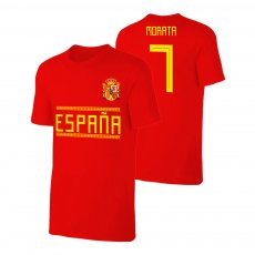 Spain WC2018 Qualifiers t-shirt MORATA, red