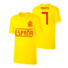 Spain WC2018 Qualifiers t-shirt MORATA, yellow