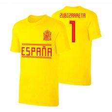 Spain WC2018 Qualifiers t-shirt ZUBIZARRETA, yellow