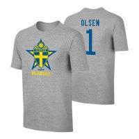 Sweden EU2020 'BLÅGULT' t-shirt OLSEN, grey