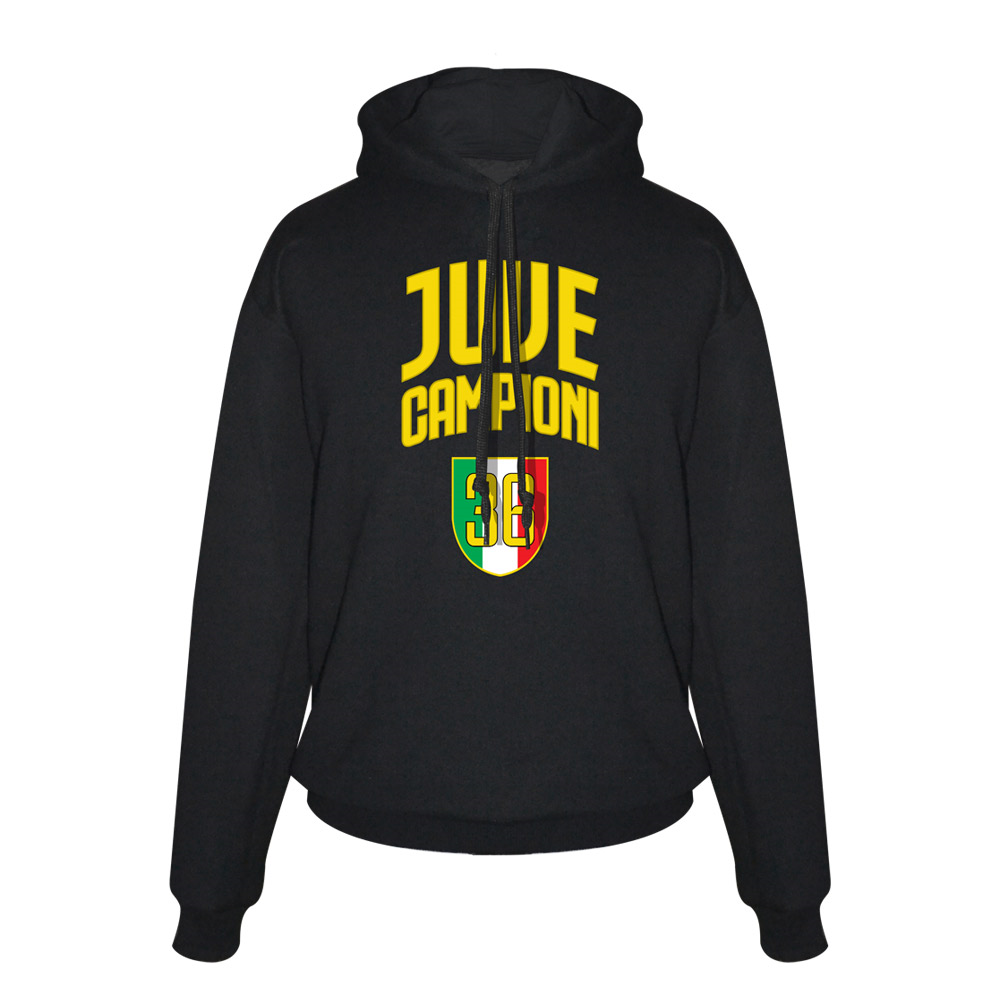 Juve Campioni 36 footer with hood, black