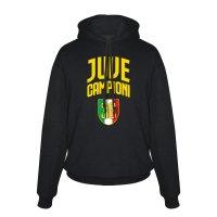 Juve 'Campioni 36' junior footer with hood, black
