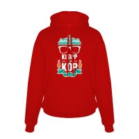 Liverpool 'Klopp in the Kop' junior footer with hood, red