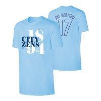 Manchester City 'Since 1894' t-shirt DE BRUYNE, light blue