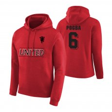 Manchester United Devil footer with hood POGBA, red
