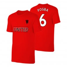Manchester United Devil t-shirt POGBA, red